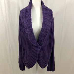 Torrid Cardigan Sweater, Size 3 (3X), Purple